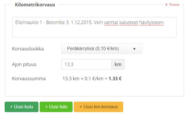 km-korvaus